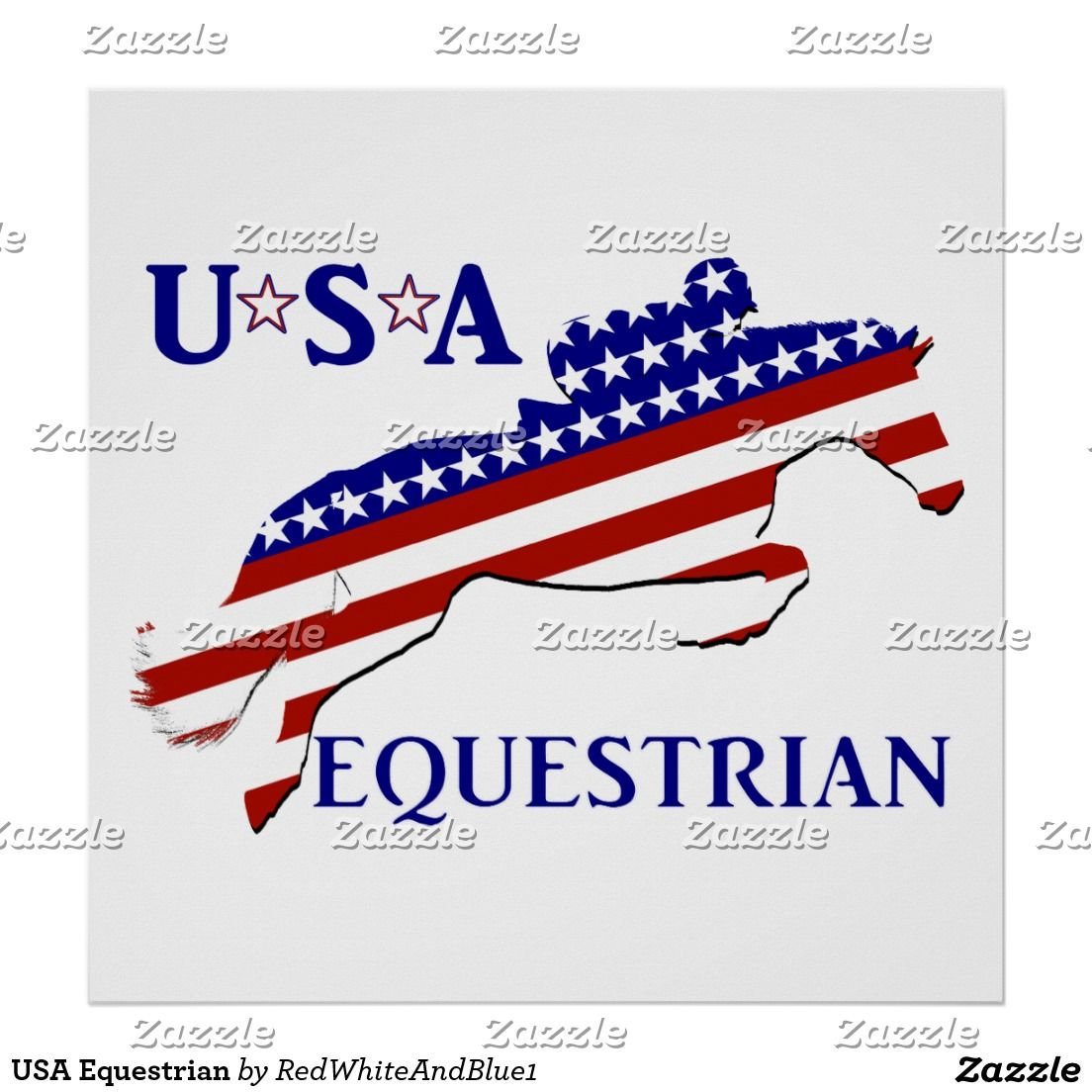 USA Equestrian Poster sports4you Gravityx9 American