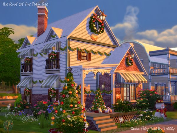 Xmas Fairy Tale House By Trecicy With Images Sims House Sims