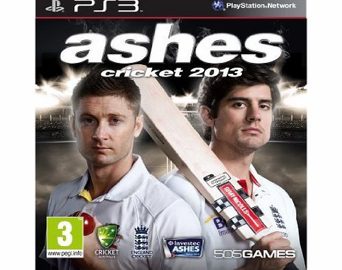 505 Games Ashes Cricket 2013 (PS3) No description (Barcode EAN = 8023171032085). http://www.comparestoreprices.co.uk/playstation-games/505-games-ashes-cricket-2013-ps3-.asp