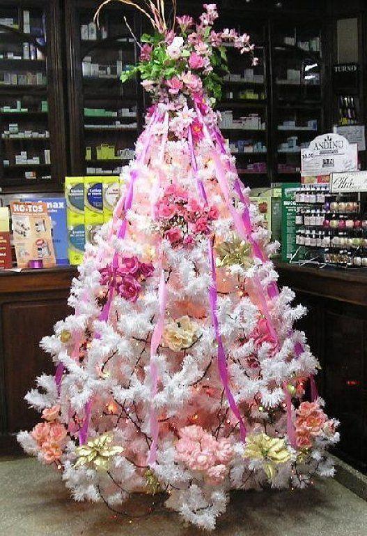 Resultado de imagen para arboles de navidad decorados blancos arboles navidad decoracion - Arbol navideno blanco decorado ...