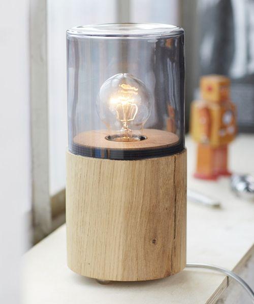 Nachttischleuchte Lantern Von The Oak Men I Holzdesignpur
