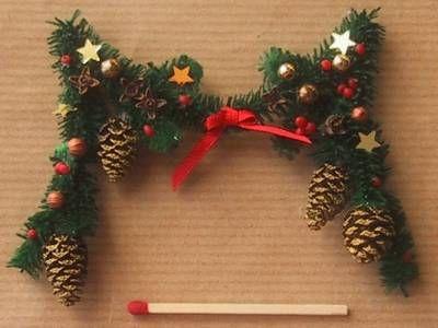 Tinsel garland mini holiday christmas miniature
