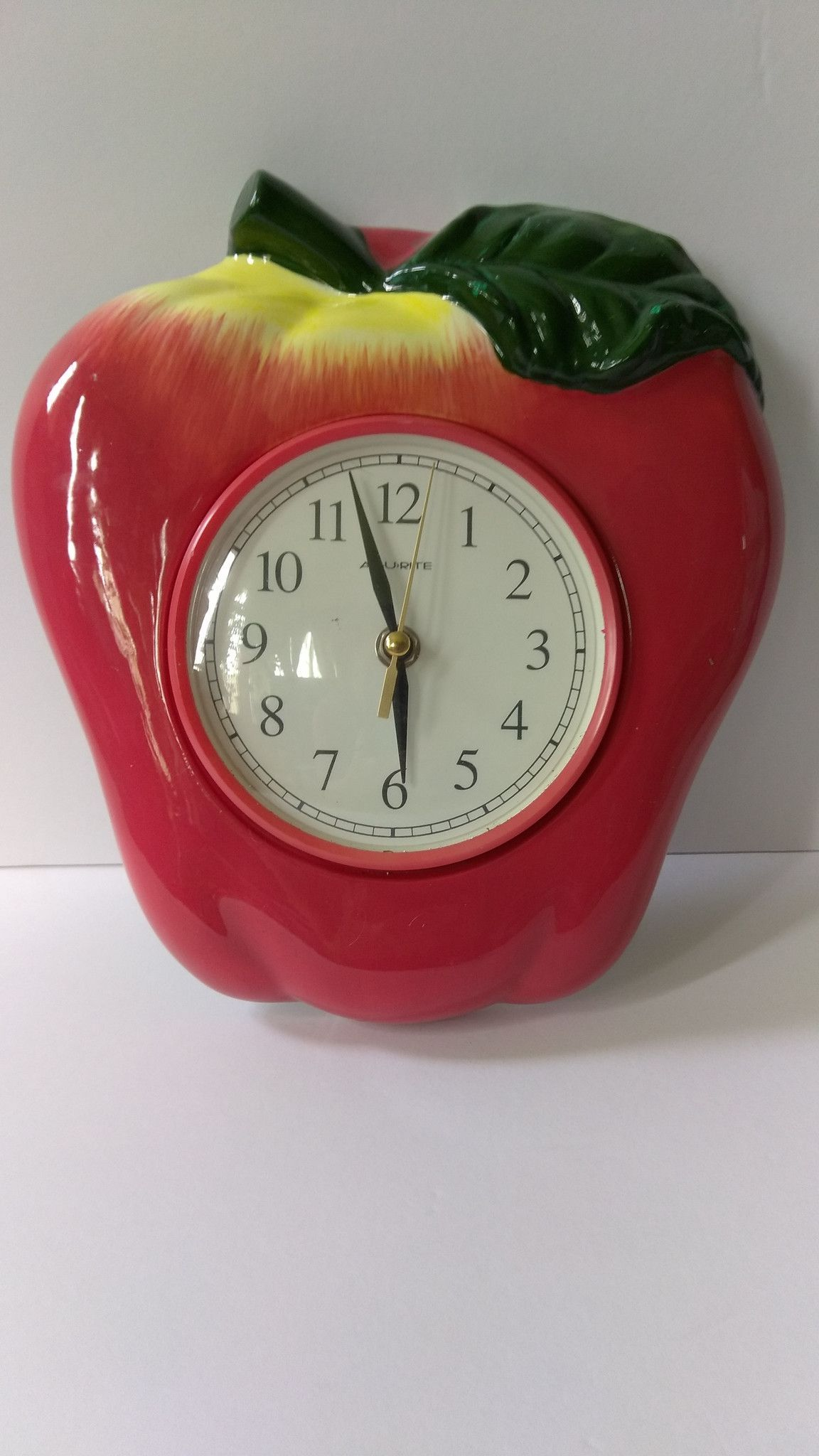 Acurite Apple Wall Clock Products Pinterest Wall Clocks