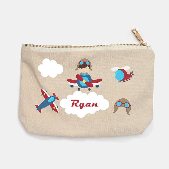 Airplane Personalized Pencil Case  Airplane Pilot Plane