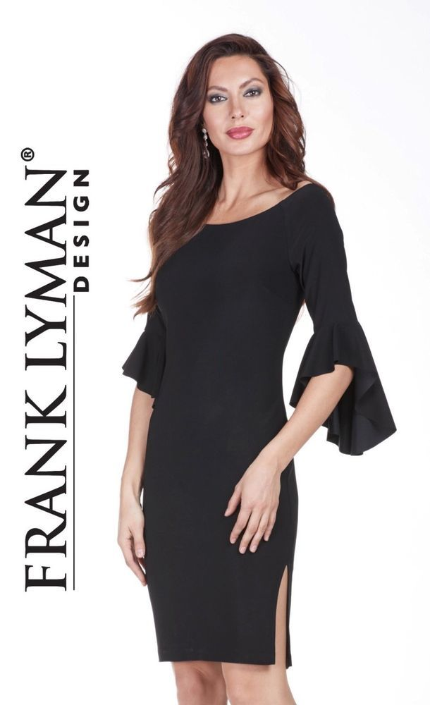 72908c7810c Frank Lyman Black Bell Sleeve On Or Off The Shoulder Dress UK 14. NEW WITH  TAGS  fashion  clothing  shoes  accessories  womensclothing  dresses (ebay  link)