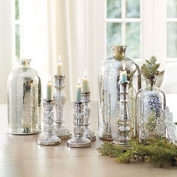 Great Beautiful Mercury Glass Decorations For Your Coming Holidays _06  (570×570) | Home | Pinterest Ideas