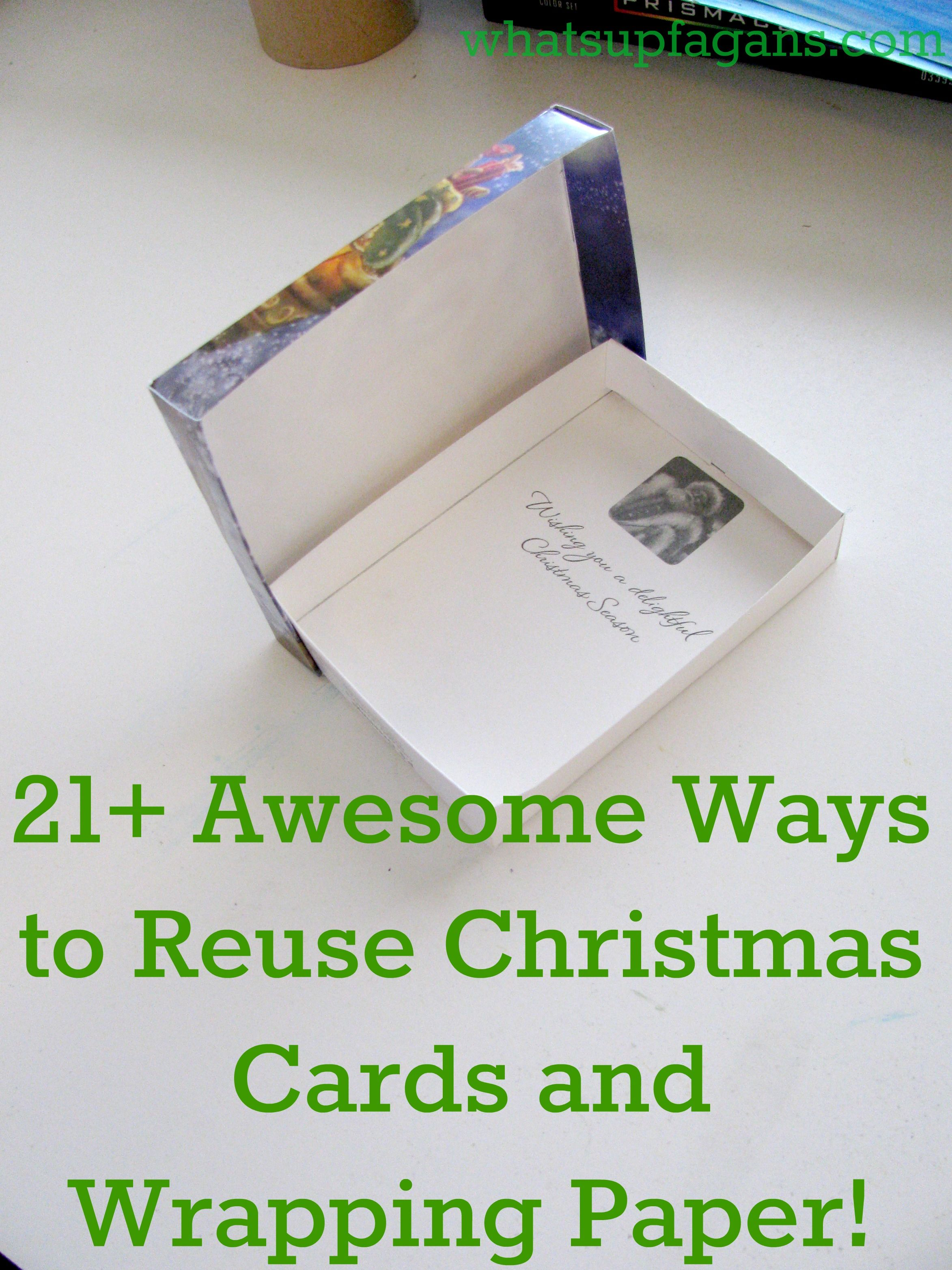40 Ingenious Ways to Reuse and Recycle Christmas Cards & Wrapping ...