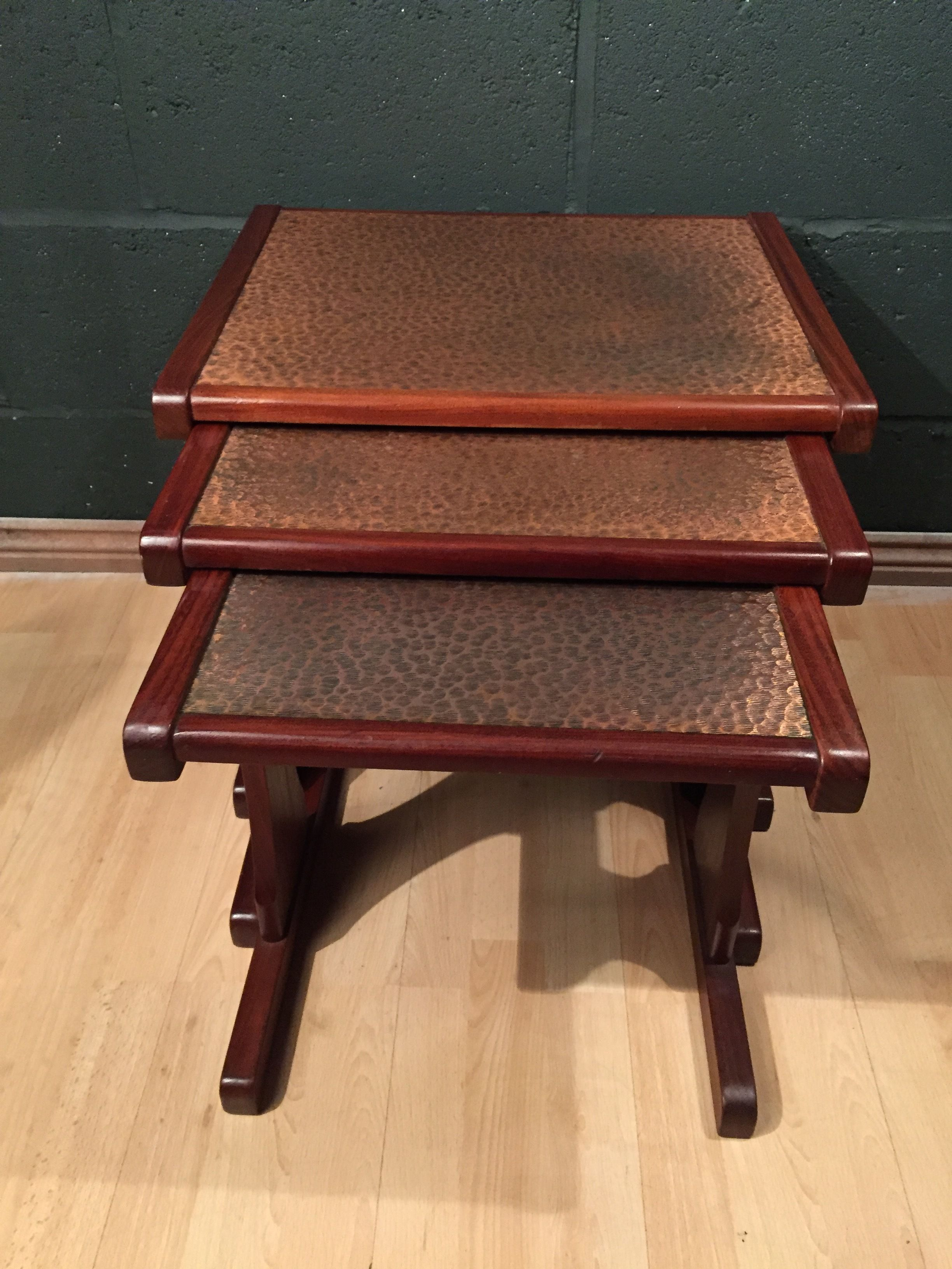 Retro Vintage Mid Century Copper Nest G Plan Coffee Tables