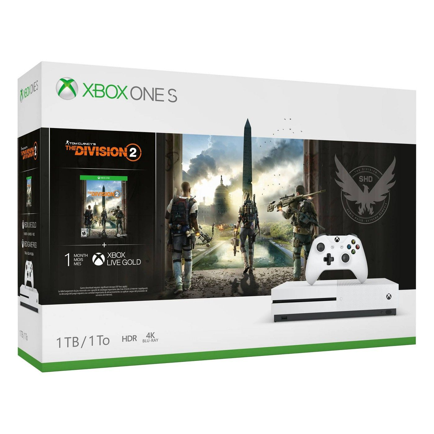 Xbox One S 1tb The Division 2 Bundle Affiliate Tb Ad Xbox