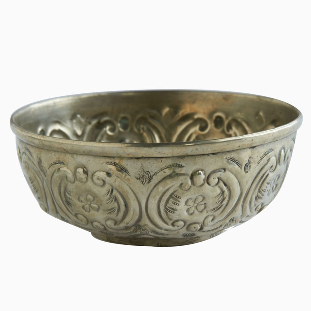 Four Petals Silver Moroccan Hammam Bowl | Shop | Project Bly