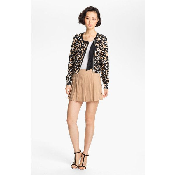 Tracy Reese Animal Print Cardigan ($195) ❤ liked on Polyvore