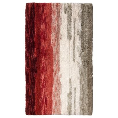 Threshold Ombre Bath Rug Creole Red 20x34 Quot Half Bath