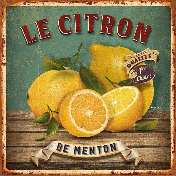 Le citron de menton images d co publicit s vintage etiquette vintage et affiches d 39 art - Affiche cuisine retro ...