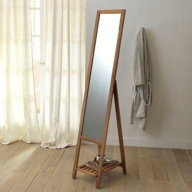 Miroir sur pied acacia, La Redoute