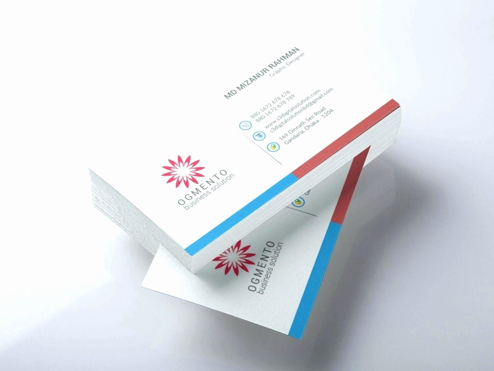Make Your Custom Double Sided Business Cards Template Word Online
