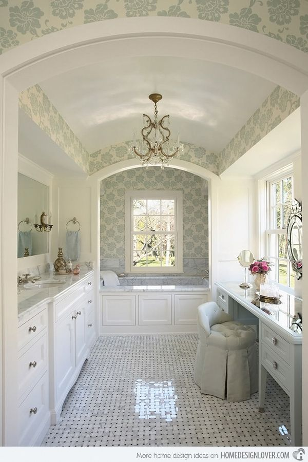 20 Luxurious and Comfortable Classic Bathroom Designs | Bathrooms ...