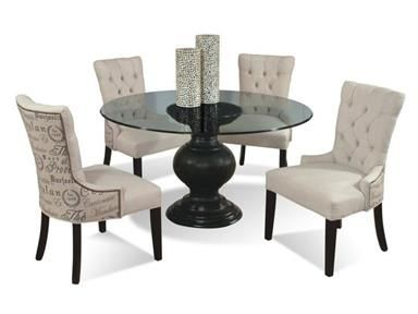 Serena Round Glass Dining Table With Pedestal Base By CMI   Darvin  Furniture   Dining Room Table Orland Park, Chicago, IL (Love The Chairs For  My Table)