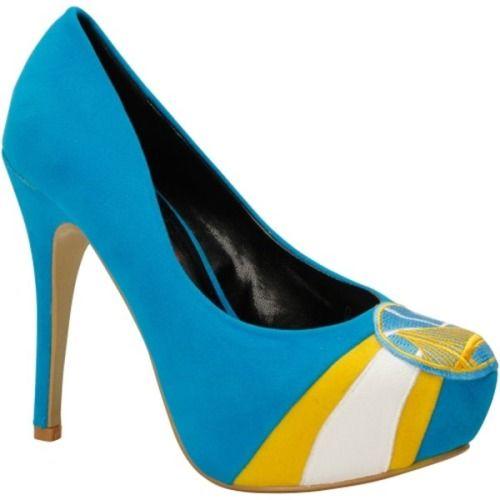$99.95 Golden State Warriors Ladies Suede Pumps - Light Blue