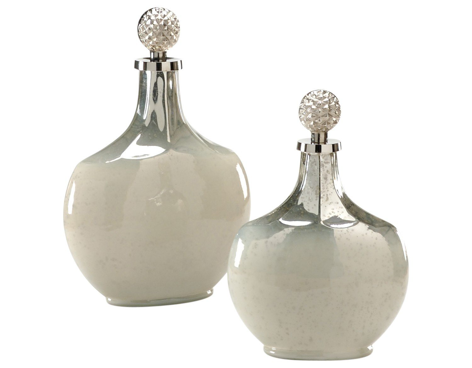 Wildwood Lamps Palacio Bottles Nickel Golden Ash Vase (Set Of Two)
