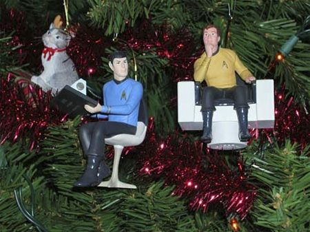 Star Trek Ornaments Why not have Kirk and Spock from Star Trek on ...