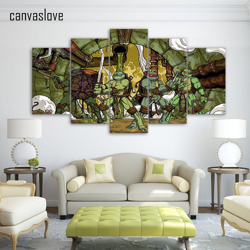 Hd printed comics teenage mutant ninja turtles painting room decor