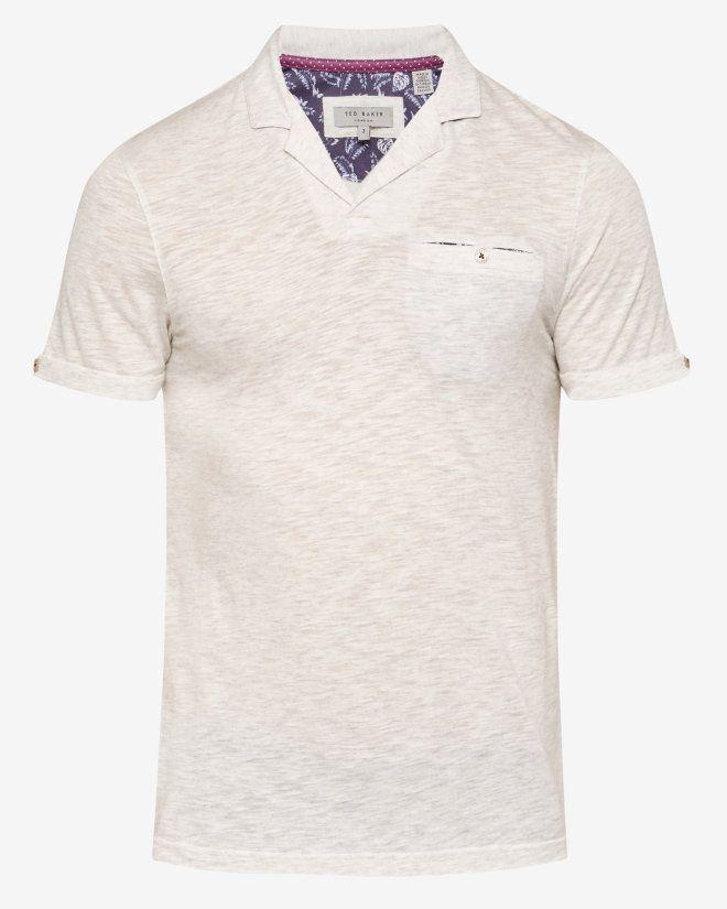64af94a56 Trophy neck polo shirt - Light Grey