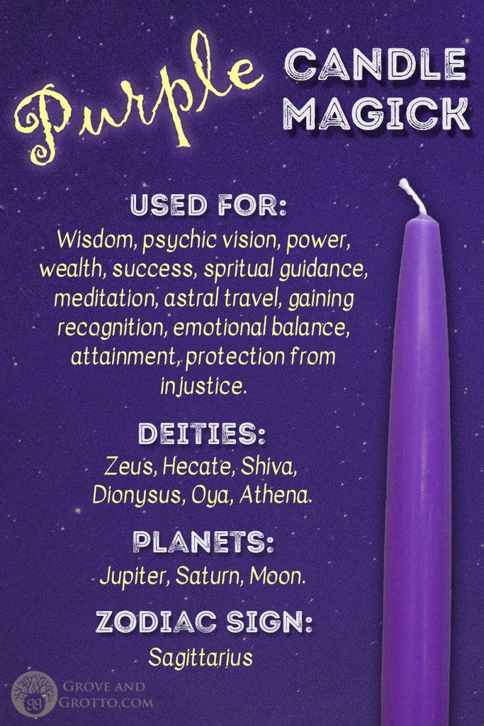 Purple candle magick #candlemagick