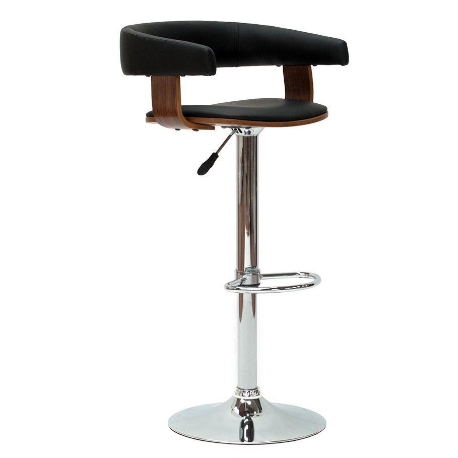 Wilkinson Furniture Metza Adjustable Bar Stool with Step   Bar ...