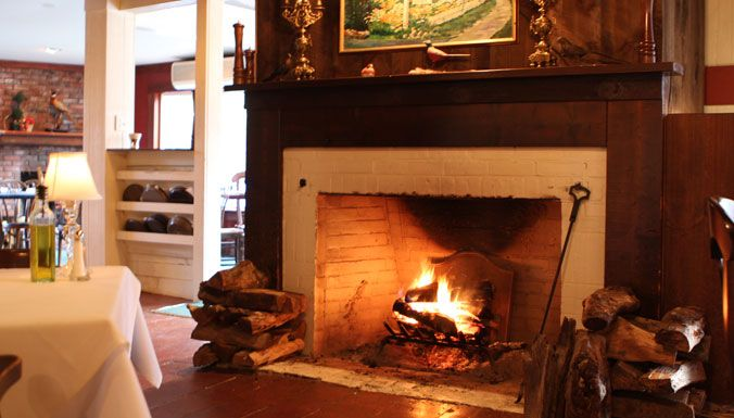 Dining By The Fire At The Red Pheasant Inn In Dennis On Cape Cod