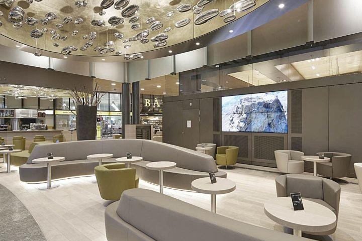 Fernweh bar by detail design gmbh zurich airport for Interior design zurich switzerland