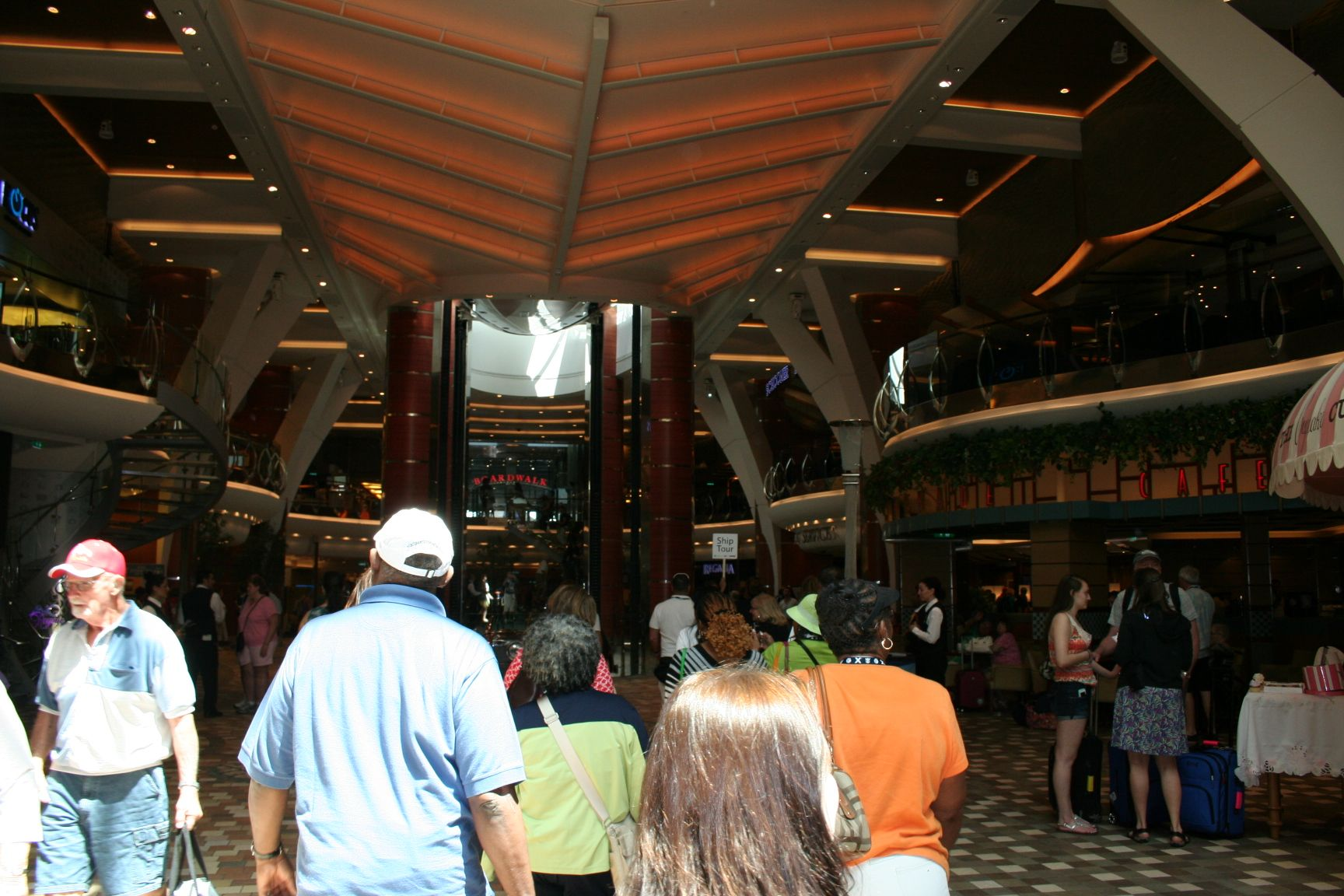 Royal Caribbean Allure of the Seas.The Royal Promenade — at Port Everglades. 4/2014