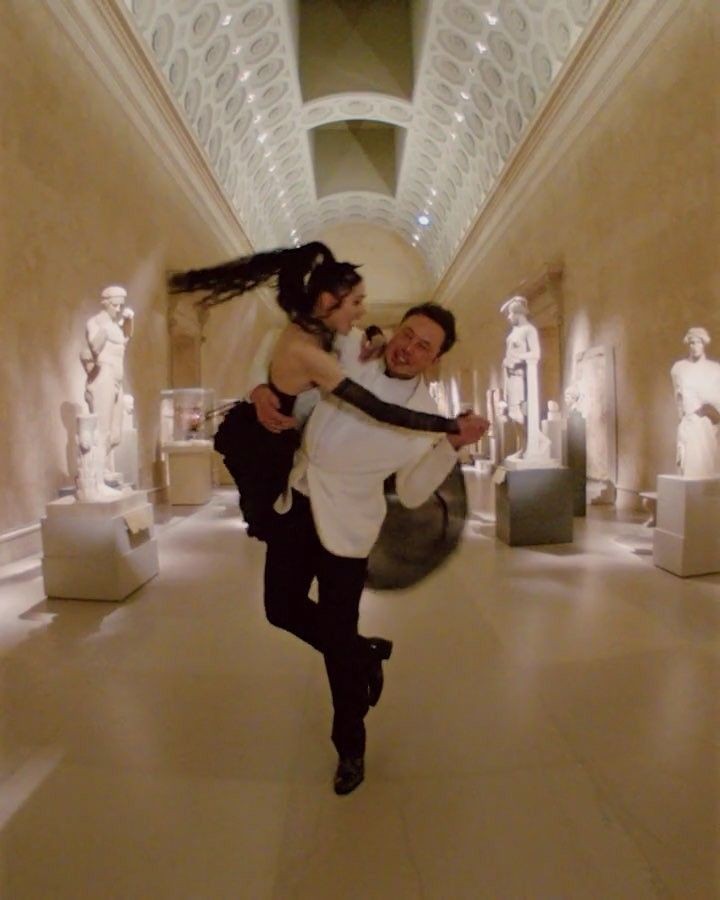 Elonmusk And Grimes Took A Spin In The Greek And Roman Galleries After Dancing To Madonna S Legendary Surprise Performance Elon Musk Claire Boucher Grimes