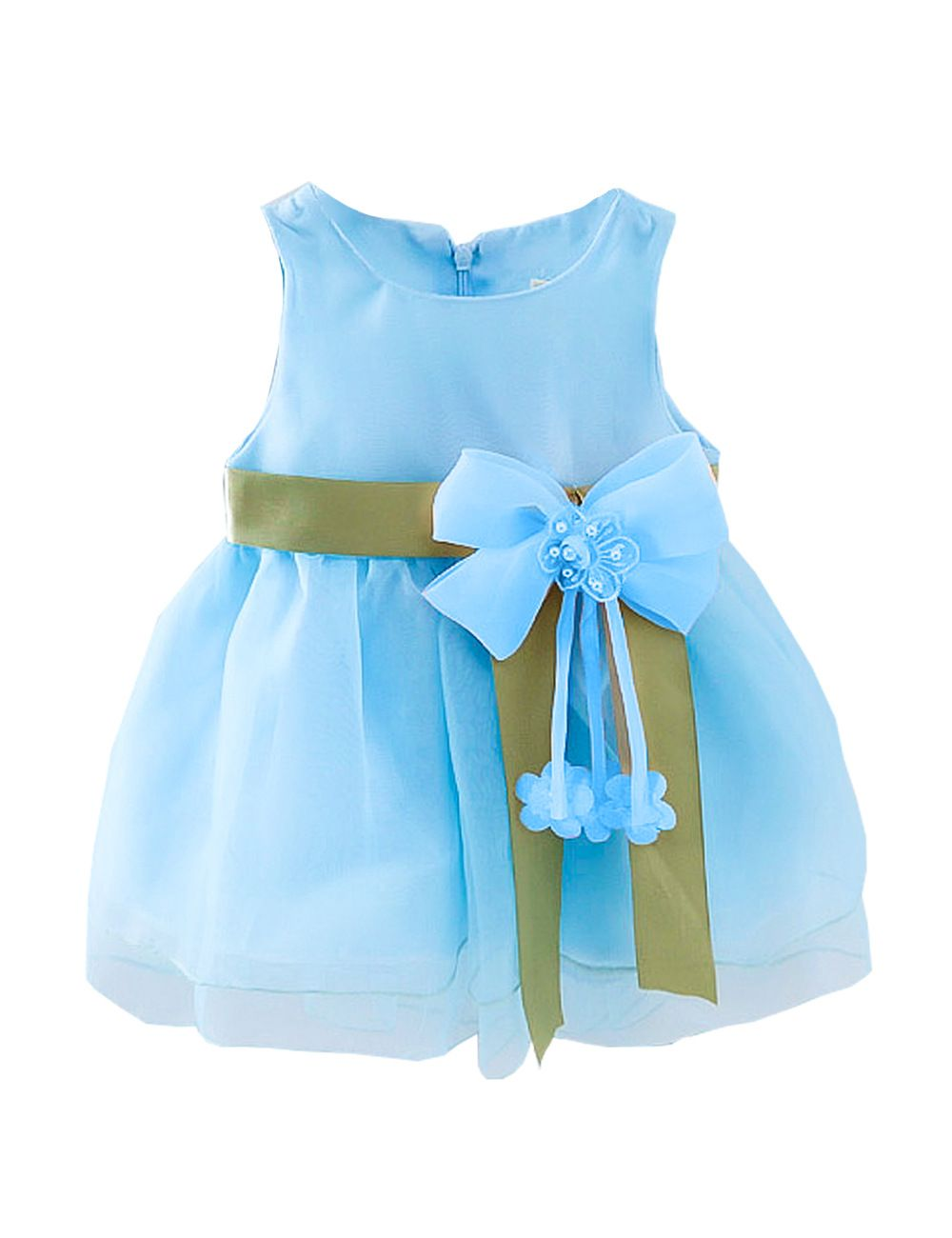 Click to Buy << Baby Girls Party Princess Dress Summer Evening ...
