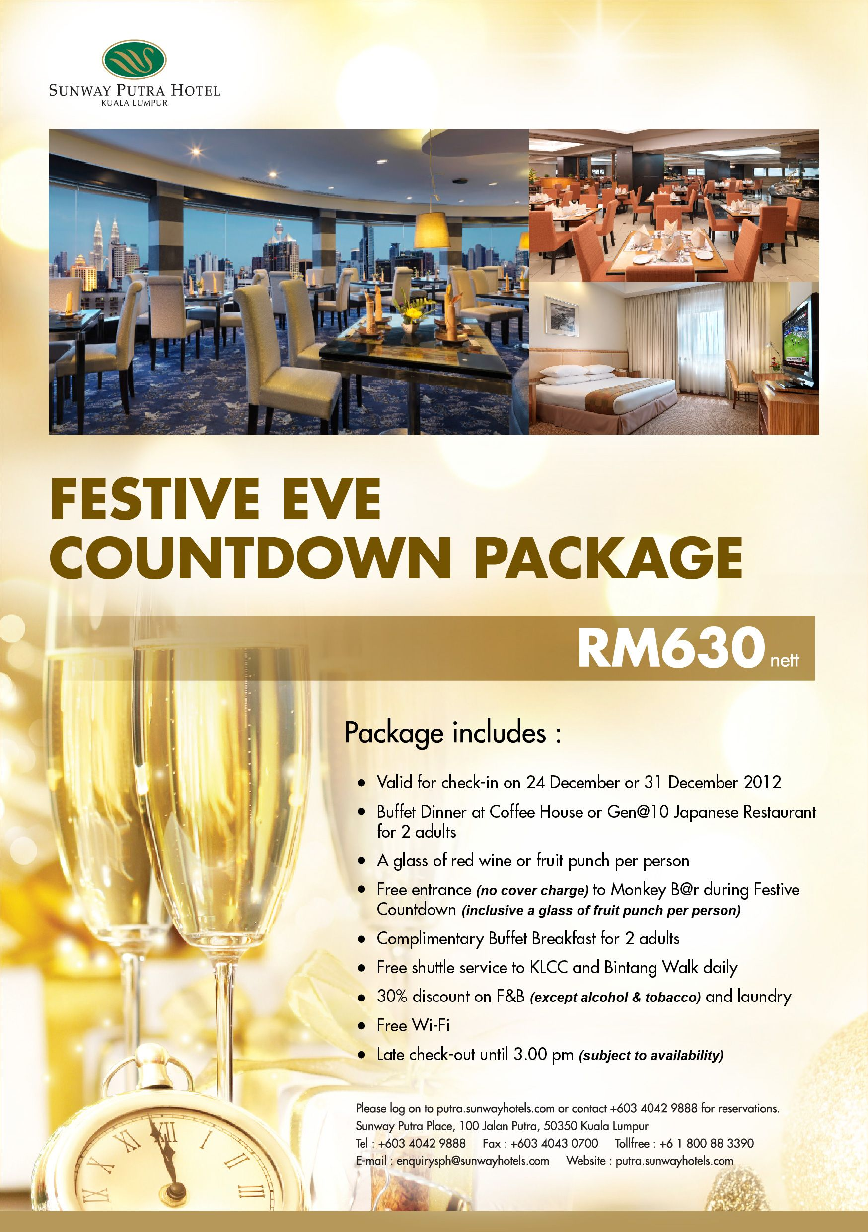 Fabulous Celebrate Christmas Or New Year Eve With Your Loved Ones In Sunway Putra Hotel Stay In Our Deluxe Room Enjo Japanese Restaurant Fruit Punch Buffet