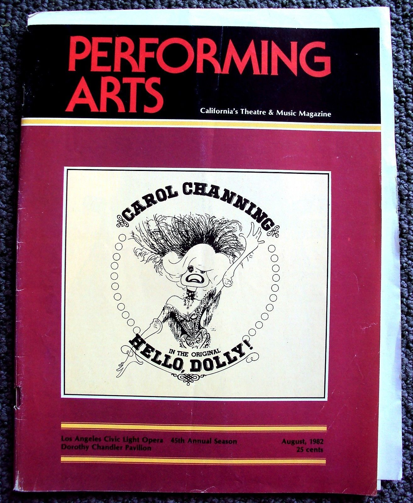 Performing Arts California S Theatre Music Magazine Carol Channing Hello Dolly Lyrics And Music By Jerry Her Performance Art Music Magazines Carol Channing