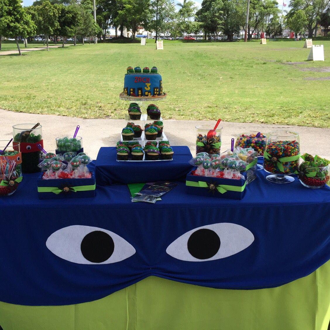 Candy Table Teenage Mutant Ninja Turtles Birthday Party Tmnt Party Ninja Turtles Birthday Party