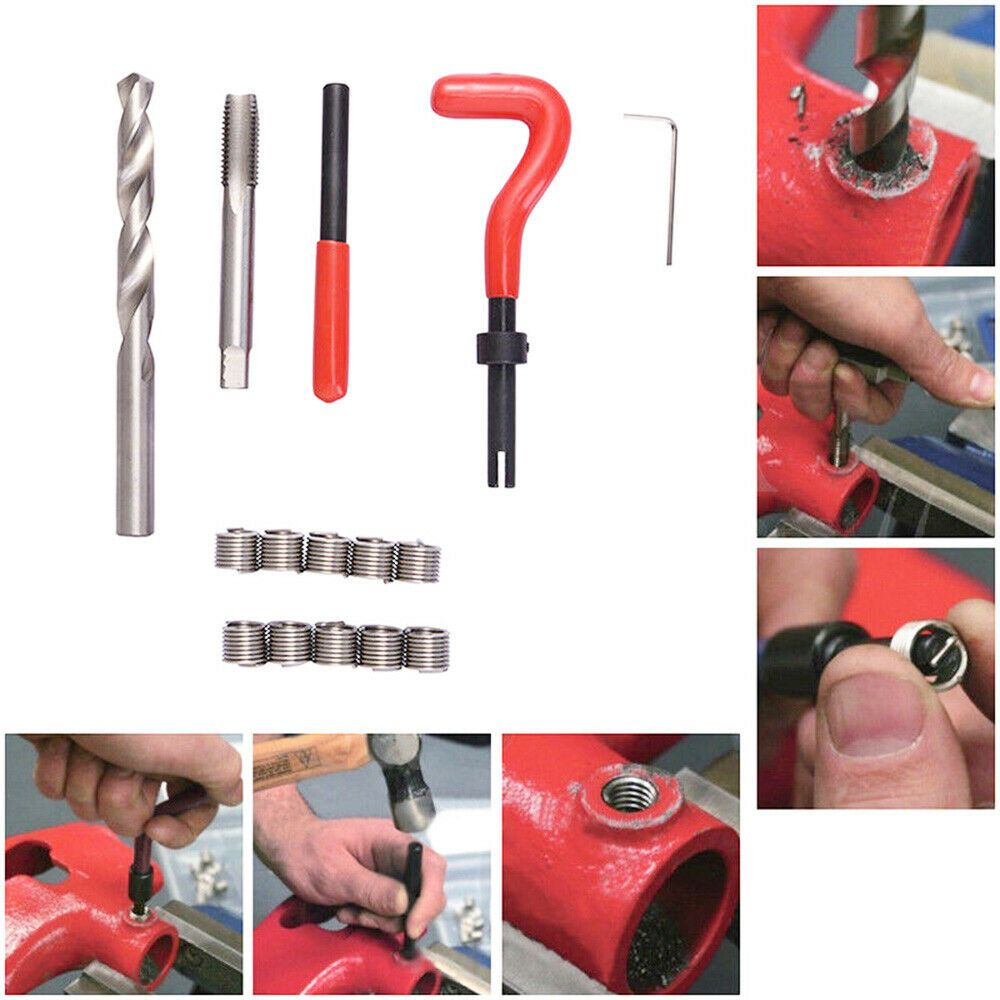 Metric Thread Repair Insert M5 M6 M8 M10 M12 M14 Helicoil Car Installation Tools