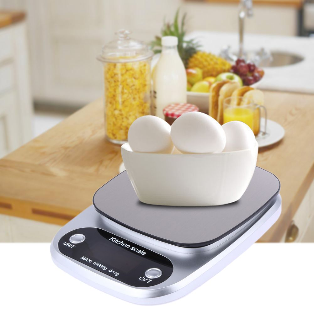 How at home check the electronic kitchen scale for accuracy