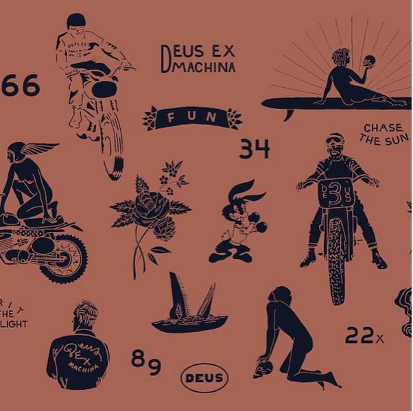 Deus Ex Machina Graphic Design Inspiration Tattoo Flash Art