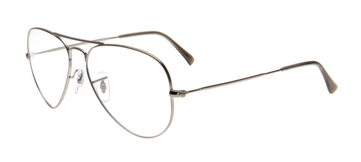Ray Ban Rb6049 Aviador Armacao Cinza Prata Oculos De Grau