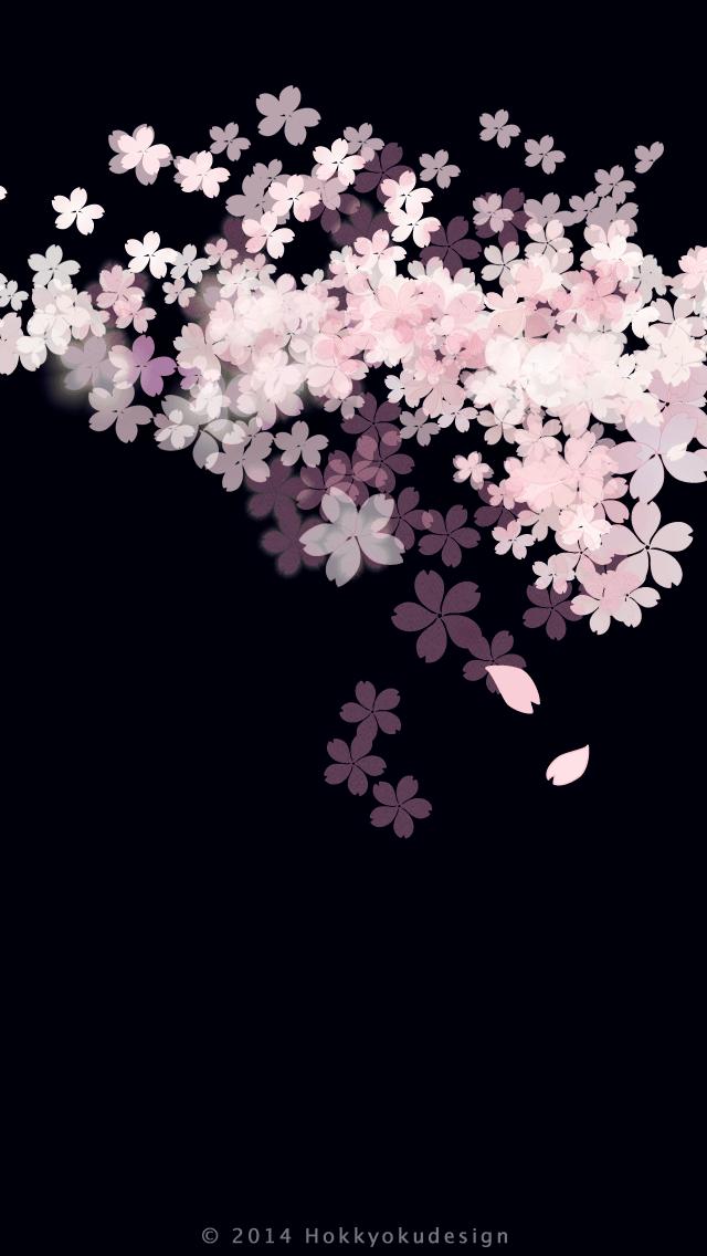 人気166位 おしゃれな夜桜イラスト Iphone Seの壁紙がダウンロードし放題 桜の壁紙 スマホ壁紙 おしゃれな壁紙背景