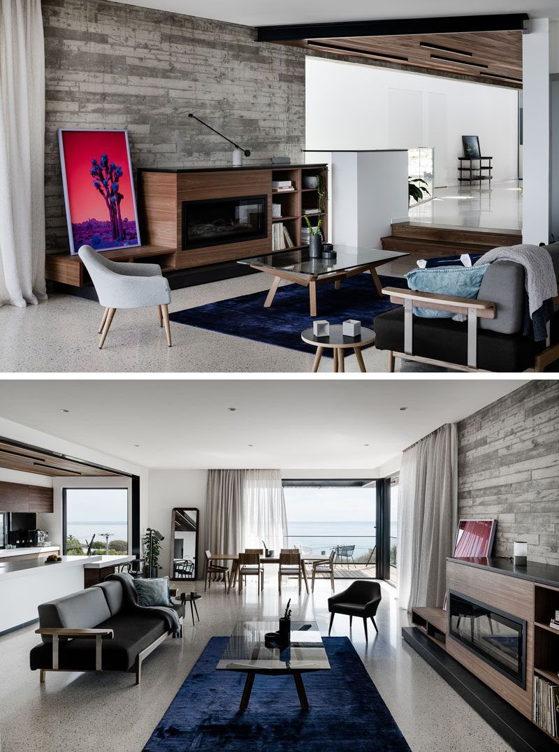 The Two Angle House By Megowan Architectural House Modern House Contemporary Living Room