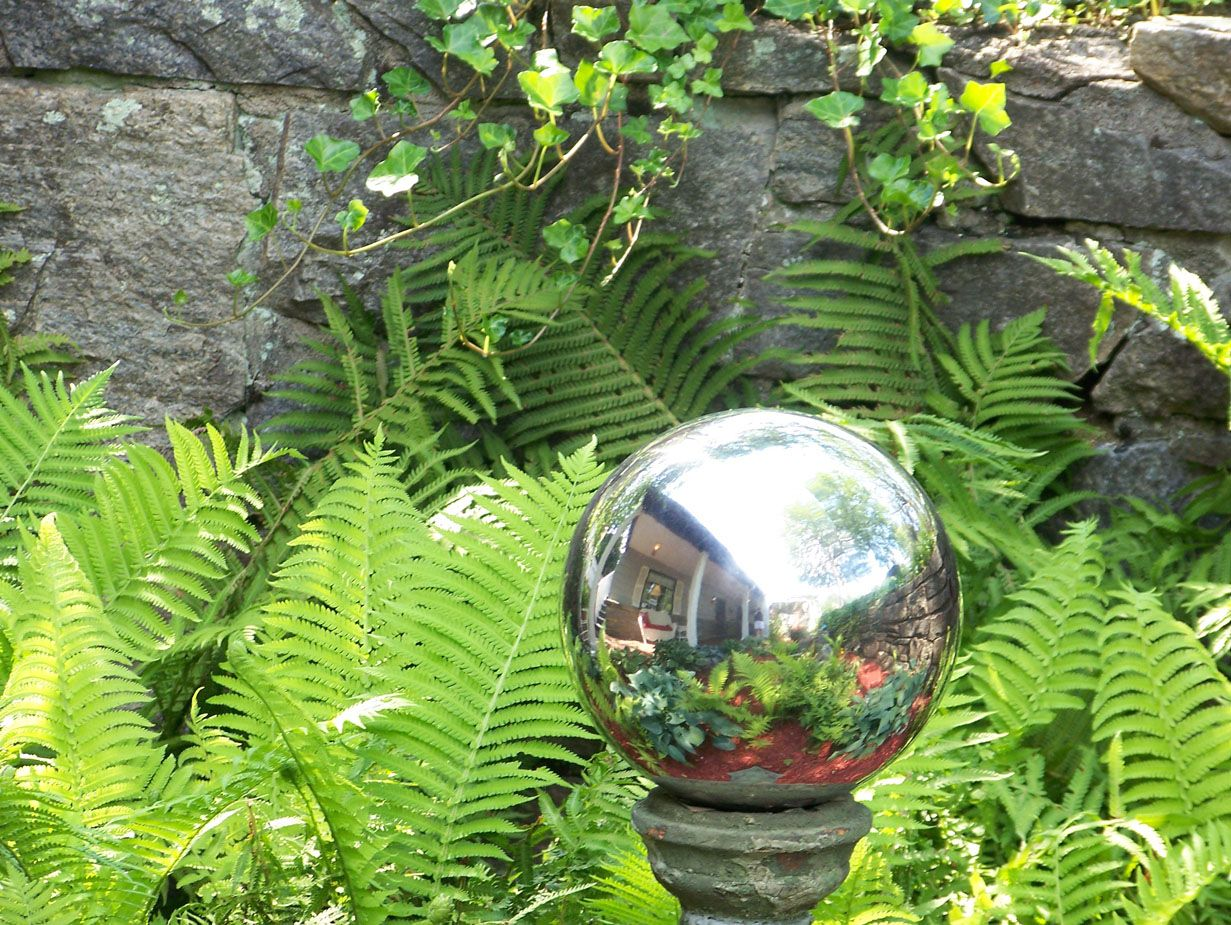 Best 25 Garden Balls Ideas On Pinterest Styrofoam Glue