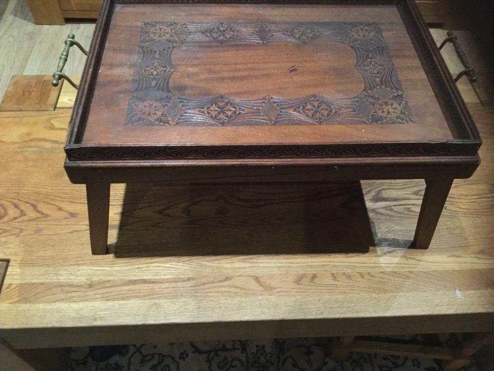 Antique Vintage 2 Piece Wooden Lap