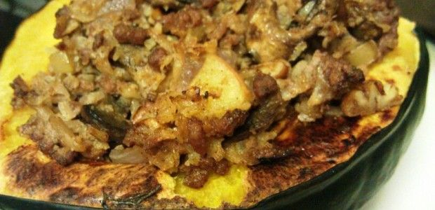 Paleo Cauliflower Rice Stuffed Acorn Squash Recipe Paleo