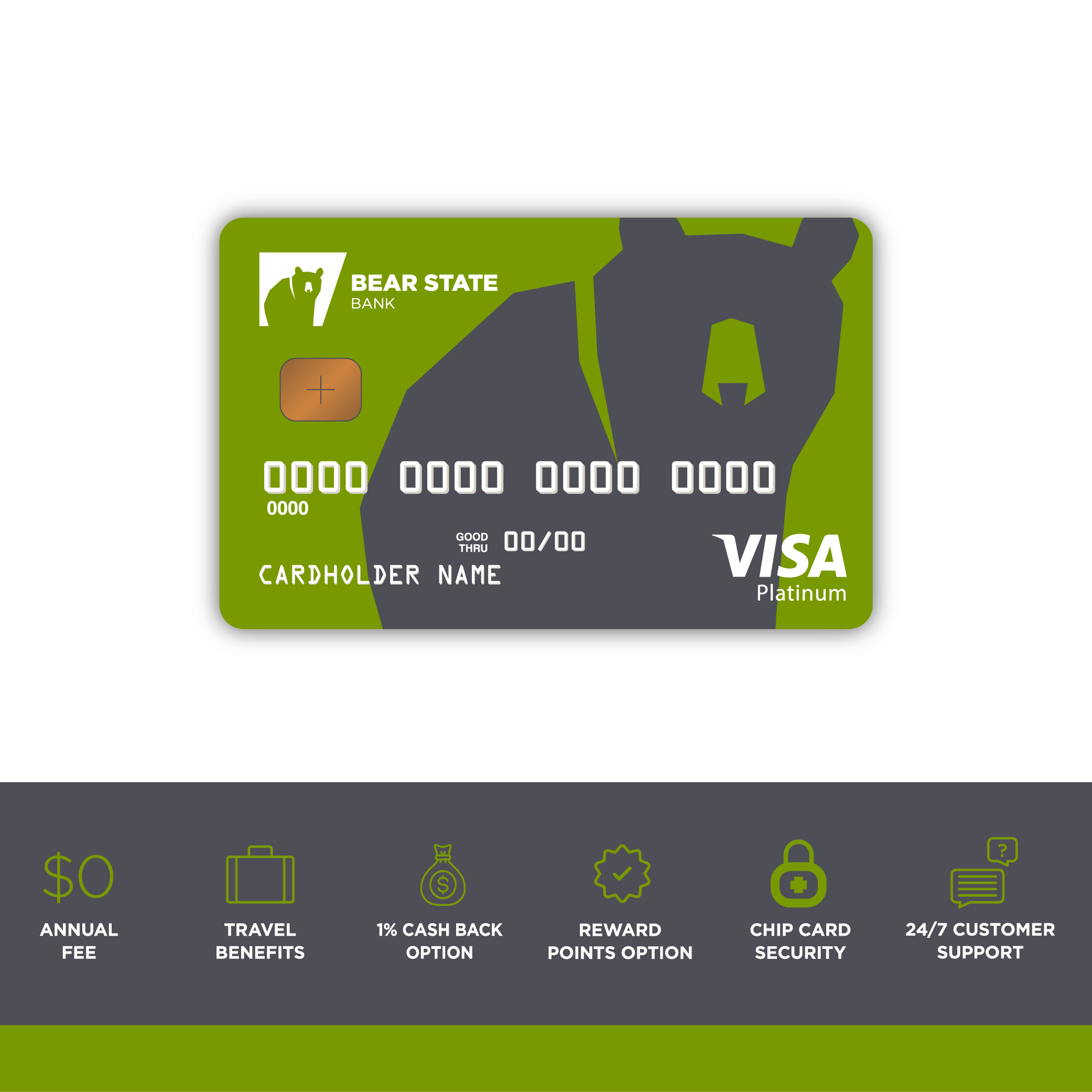 Swipe this. Introducing our new Bear State Bank Visa® Card. Shopping ...