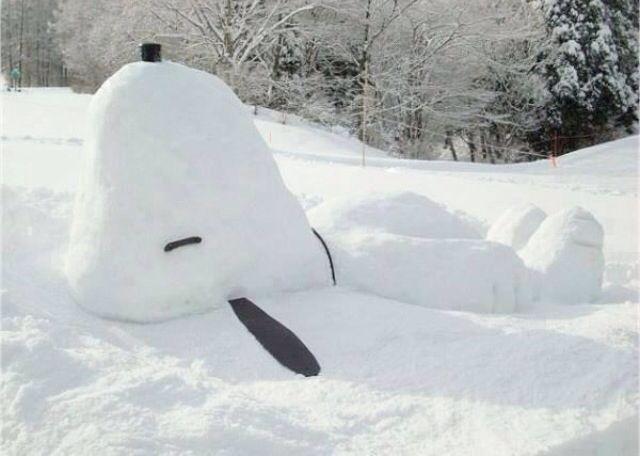 Snow Snoopy!