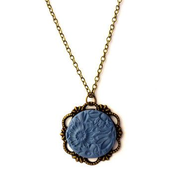 Textured Necklace Blue now featured on Fab.