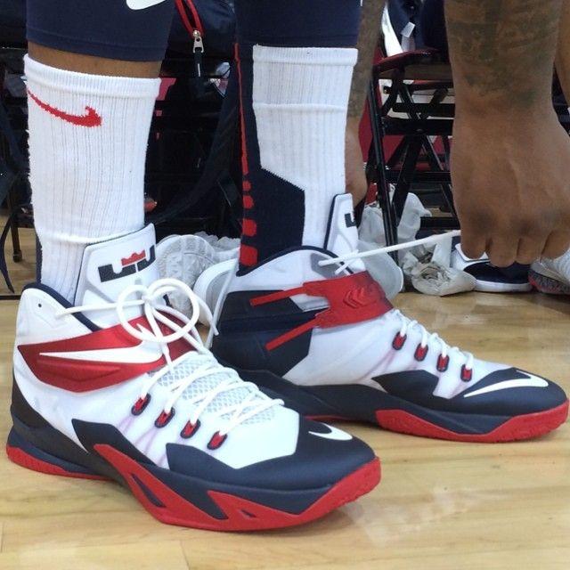 DeMarcus Cousins' kicks at practice in Vegas for USA Basketball!  #SummerKicks