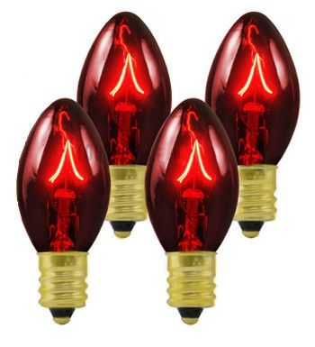 pack of 25 transparent red c7 twinkle replacement christmas light bulbs products pinterest light bulb and products